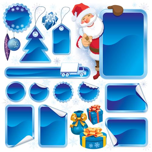 Christmas blank tags 1 vector graphics