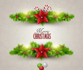 Christmas festvial card template gray vector 01