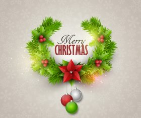Christmas festvial card template gray vector 02