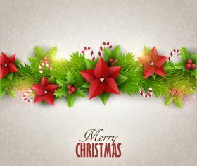Christmas festvial card template gray vector 03