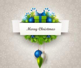 Christmas festvial card template gray vector 04