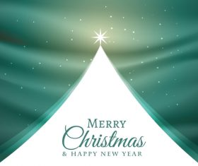 Christmas green with white background vector template