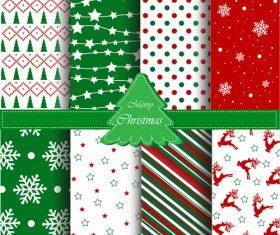 Christmas plaid seamless pattern vector
