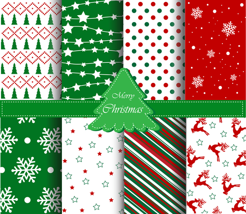 Christmas plaid seamless pattern vector