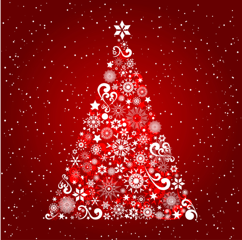 Red Christmas.Christmas Tree Red Background Vector Design Free Download