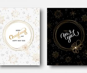 Christmas with new year brochure cover template design  vector