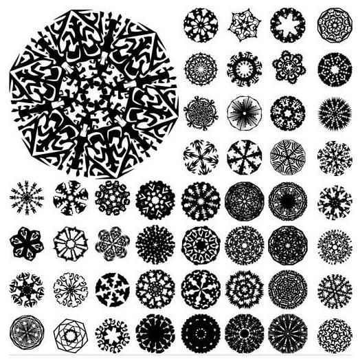 Circle Ornate Elements 3 design vector