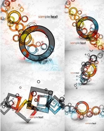 Circular and square pattern Illustration vector