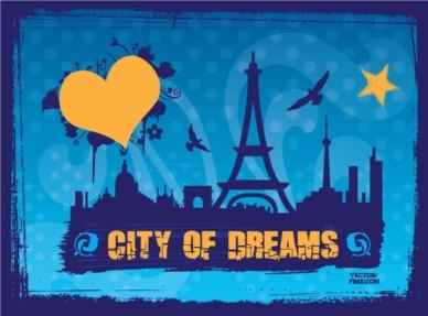 City Dreams vectors graphic