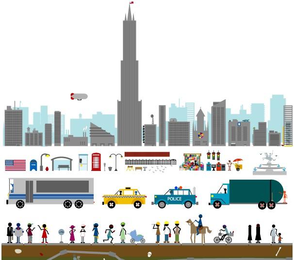City Mberleys graphic vector