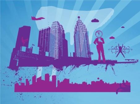 City Theme vector graphics