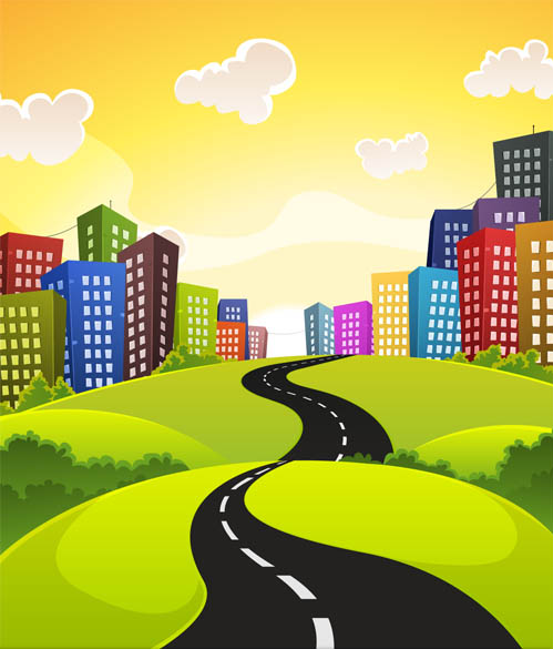 Cityscapes graphic shiny vector