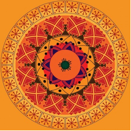 Classical circular pattern creative vector
