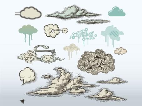 Cloud Art vectors graphics