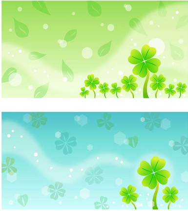 Clover Background Templates art vector