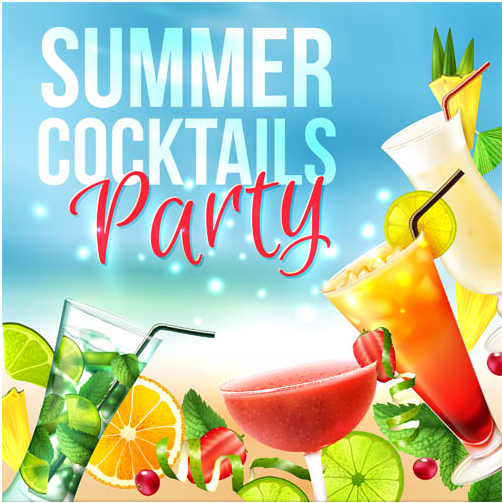 Cocktails Party vectors material