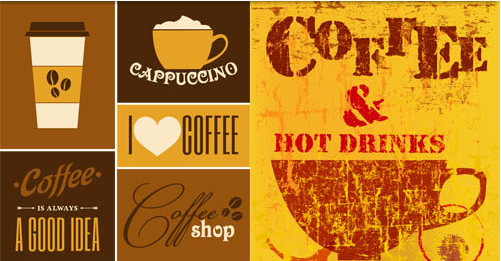 Coffee Backgrounds 3 vector graphic