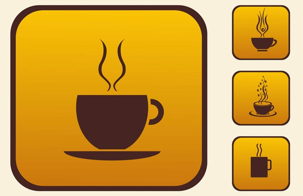Coffee Cups Icons vector set