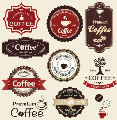 Coffee Labels graphic design vector
