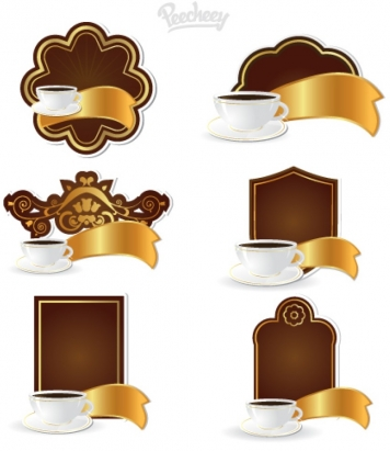 Coffee tags set Free vectors