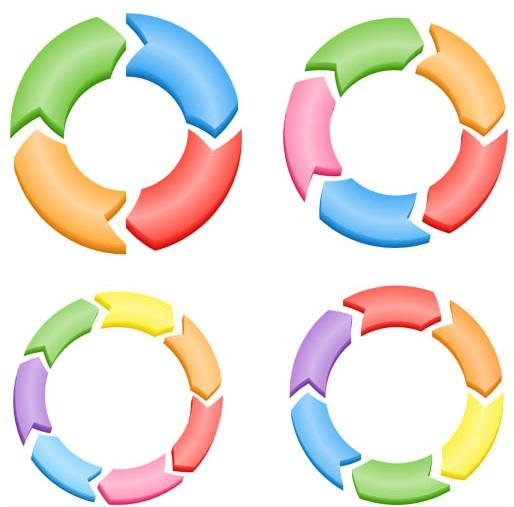 Color Arrows Diagrams vector
