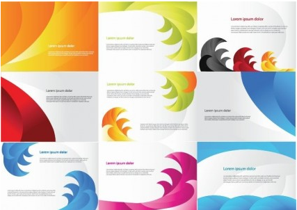 Color Business Cards Vector