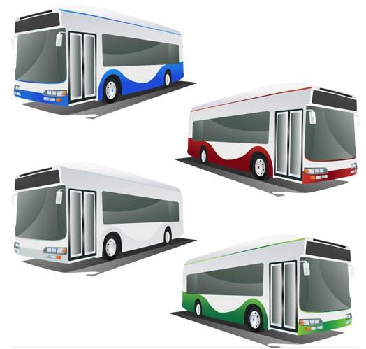 Color Different Buses art vectors