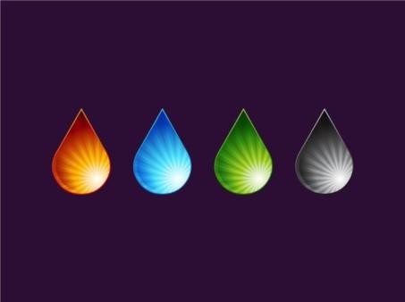 Color Drops set vector