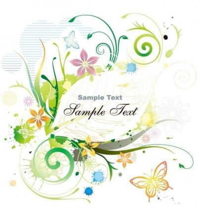 Color Floral Frame illustration vector