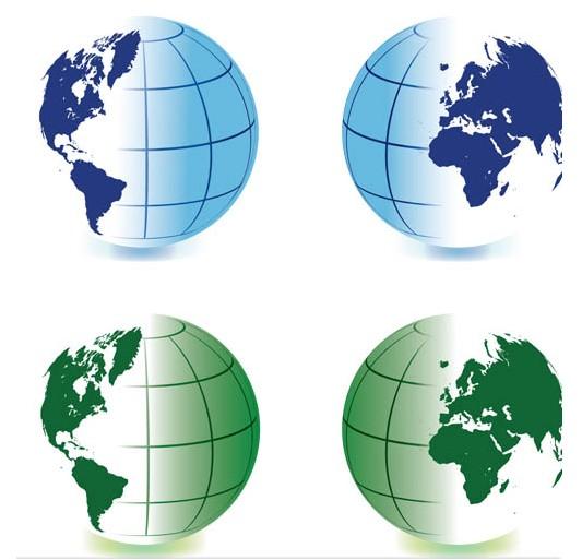 Color Globes Symbols art vector