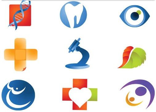 Color Medicine Logotypes design vector