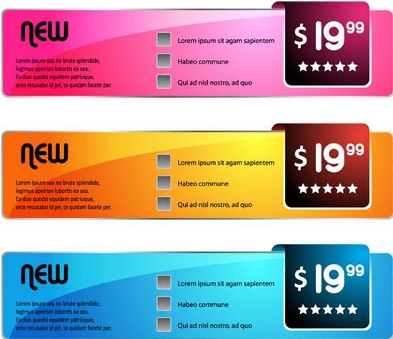 Color Sale Elements graphic vector