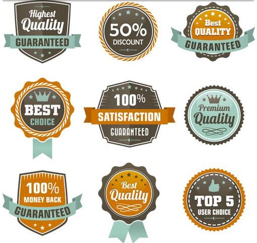 Color Sale Labels vectors graphics