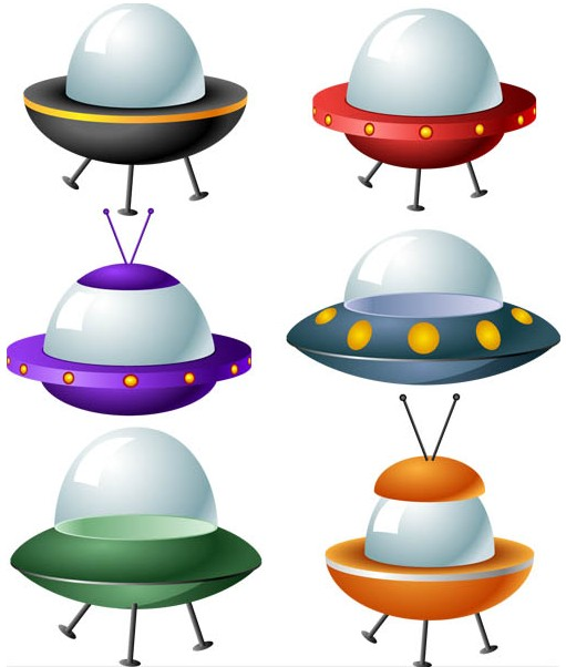 Color Spacecraft vector