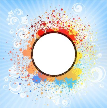 Color Splash Tile vector set