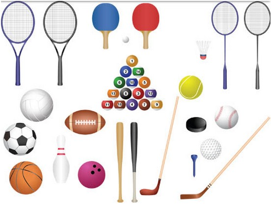 Color Sports Equipment vector material