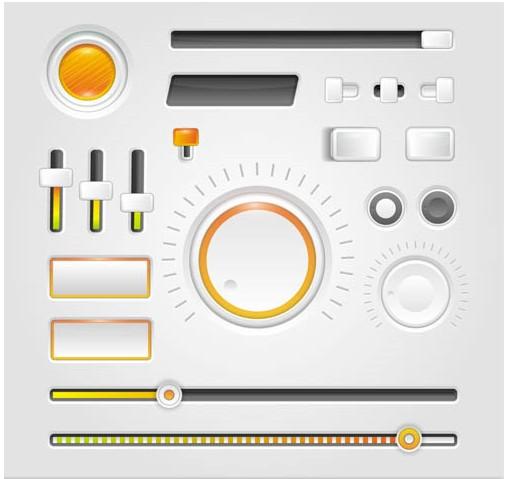 Color UI MediElements vector