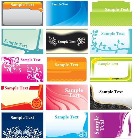 Color Vivid Cards vector