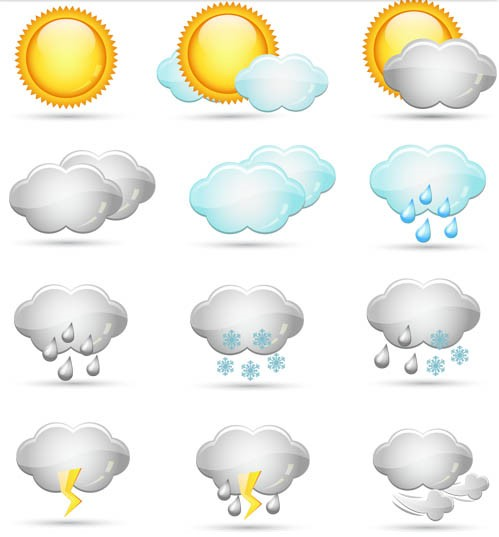 Color Weather Icons vector
