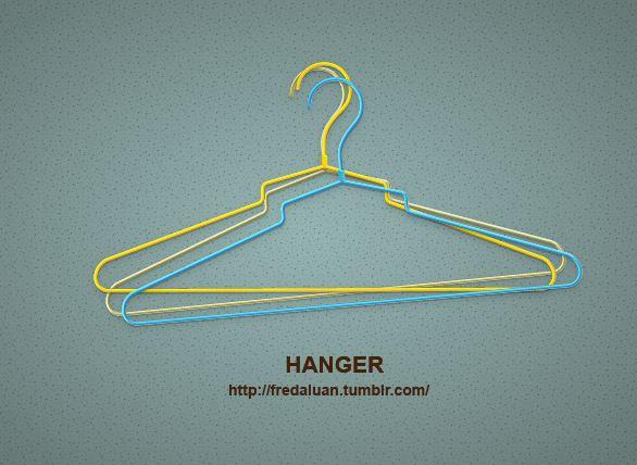 Color hanger vector