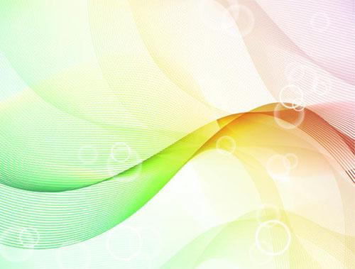 Color waves line background 1 set vector