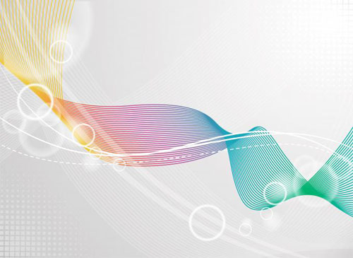 Color waves line background 2 set vector