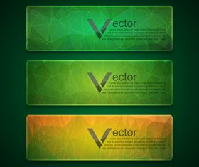 Colored glass banners template with polygon vectors 05