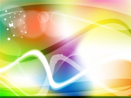Colorful Abstract Swirl Design vector