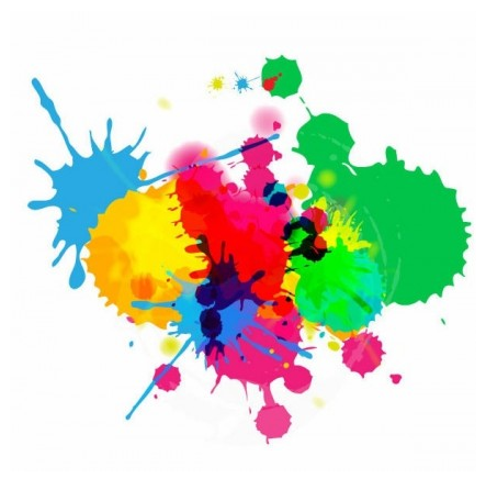 Colorful Bright Ink Splashes on White Background vector