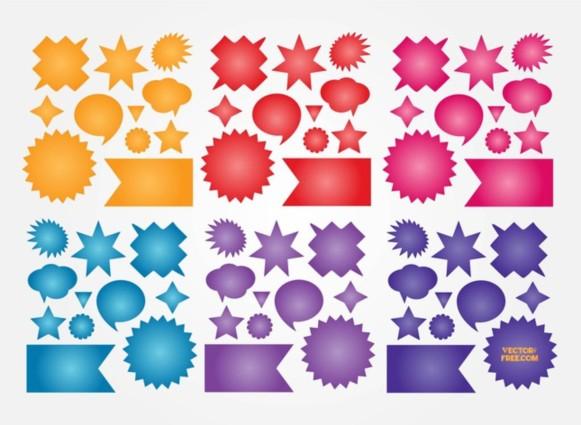 Colorful Buttons Vectors vectors