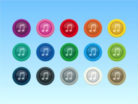 Colorful Music Icons vector