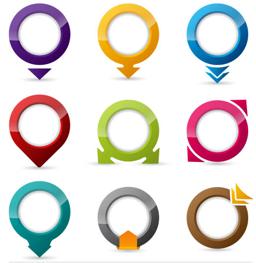 Colorful Pointers vectors graphics