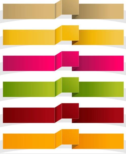 Colorful Ribbons Elements vectors graphic