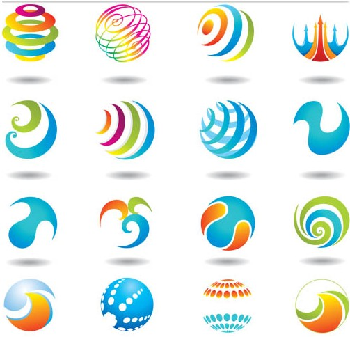 Colorful Round Elements vector